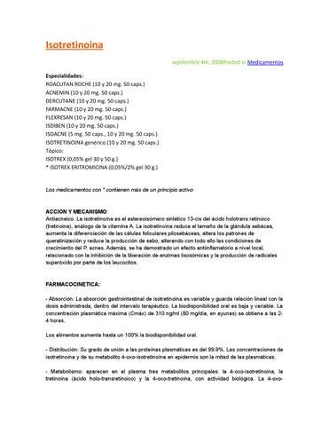 Hipertensión intracraneal benigna isotretinoína