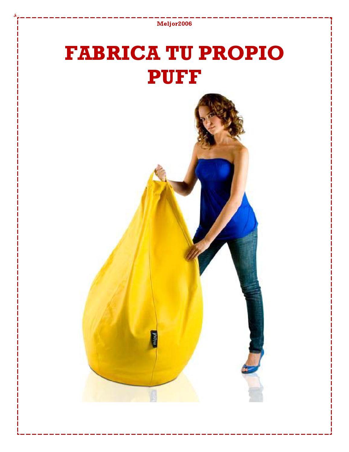 arma tu propio puff by sarita iris felker issuu - Como Hacer Un Puff Pera