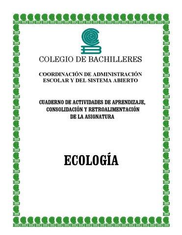 Cuaderno de actividades de ecología by Teresa Rosero - issuu