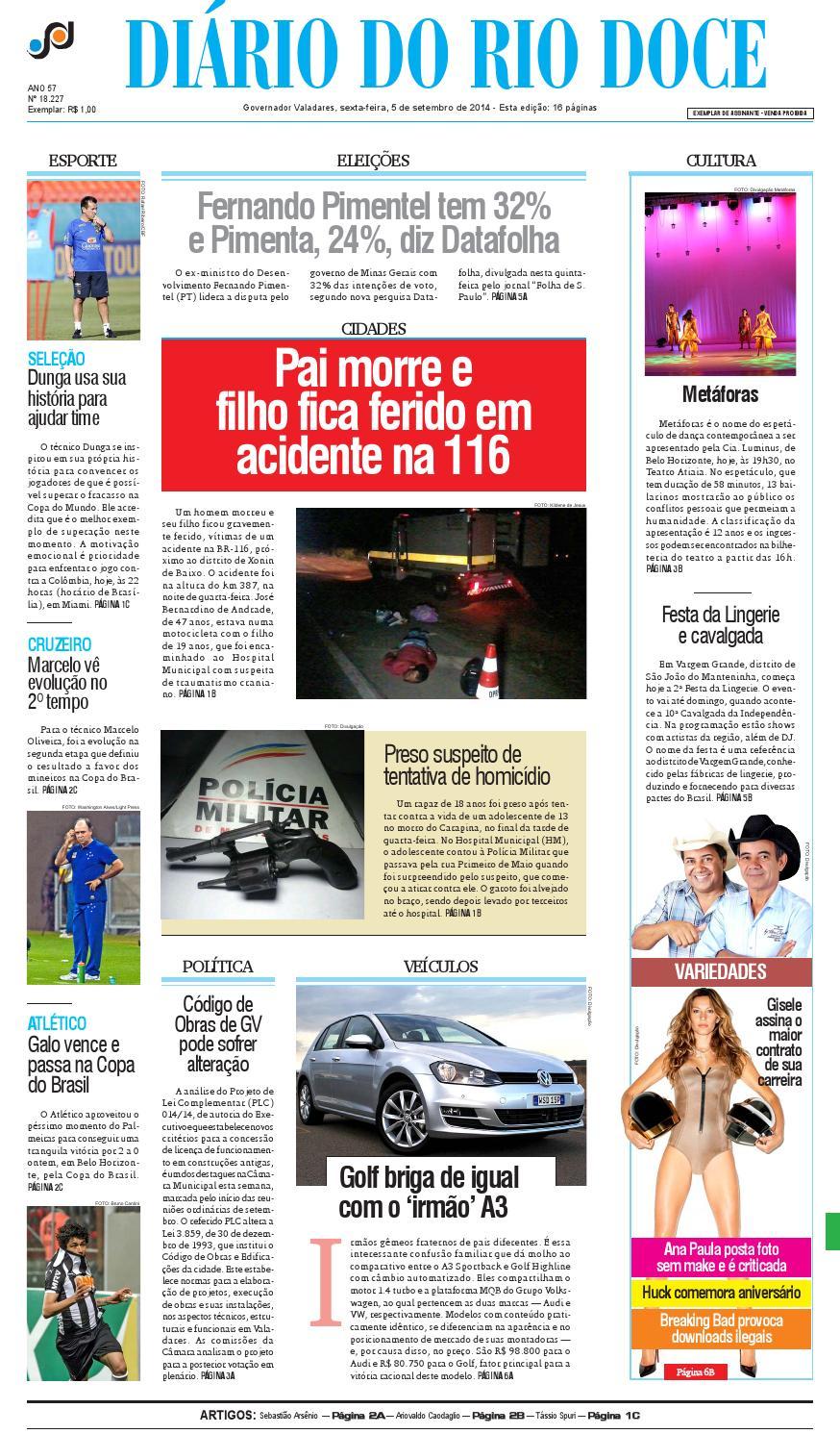 Diário do Rio Doce - Edição de 05 09 2014 by Diário do Rio Doce - issuu 1cbc4ad75dfec