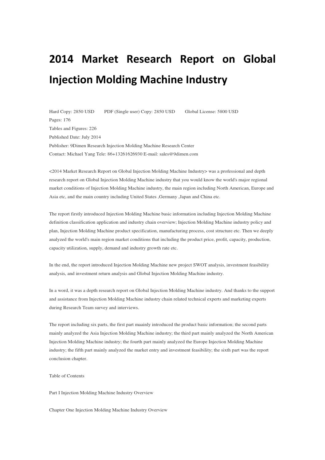 2014 market research report on global injection molding