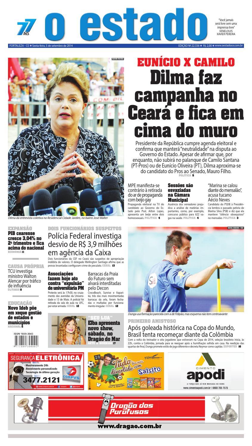 Edição 22336 - 05 de setembro de 2014 by Jornal O Estado (Ceará) - issuu 39c3d54b55edf