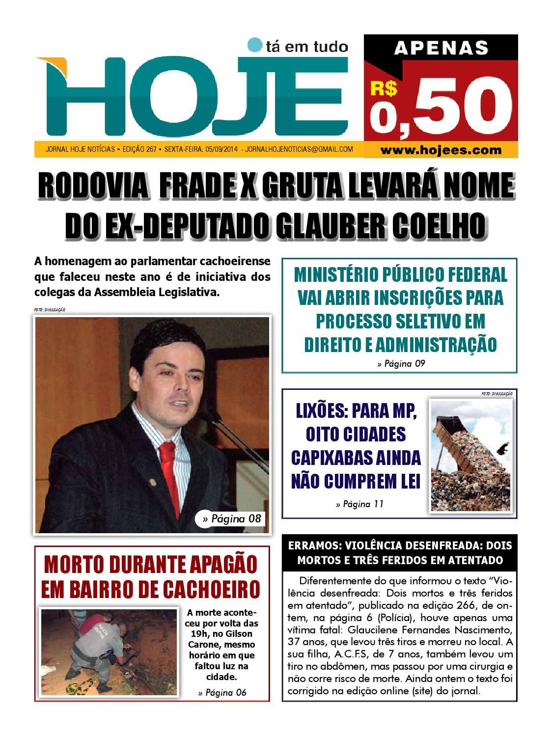 Jornal Hoje Not U00edcias Edi U00e7 U00e3o 267 Sexta Feira 05 De