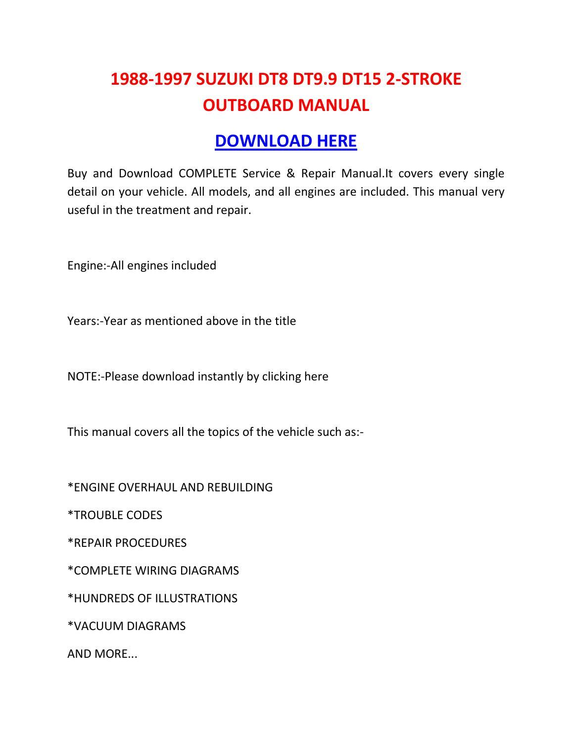 Suzuki Outboard 9 9 manual