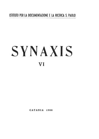 Synaxis 1988 VI by Studio Teologico S. Paolo - issuu e5d269dd21fb