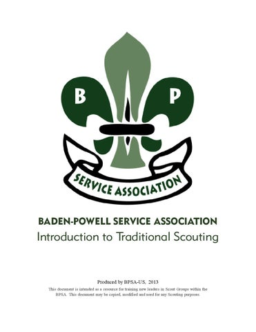 f1e0ff3c8bf BPSA Introduction to Traditional Scouting by Baden-Powell Service ...