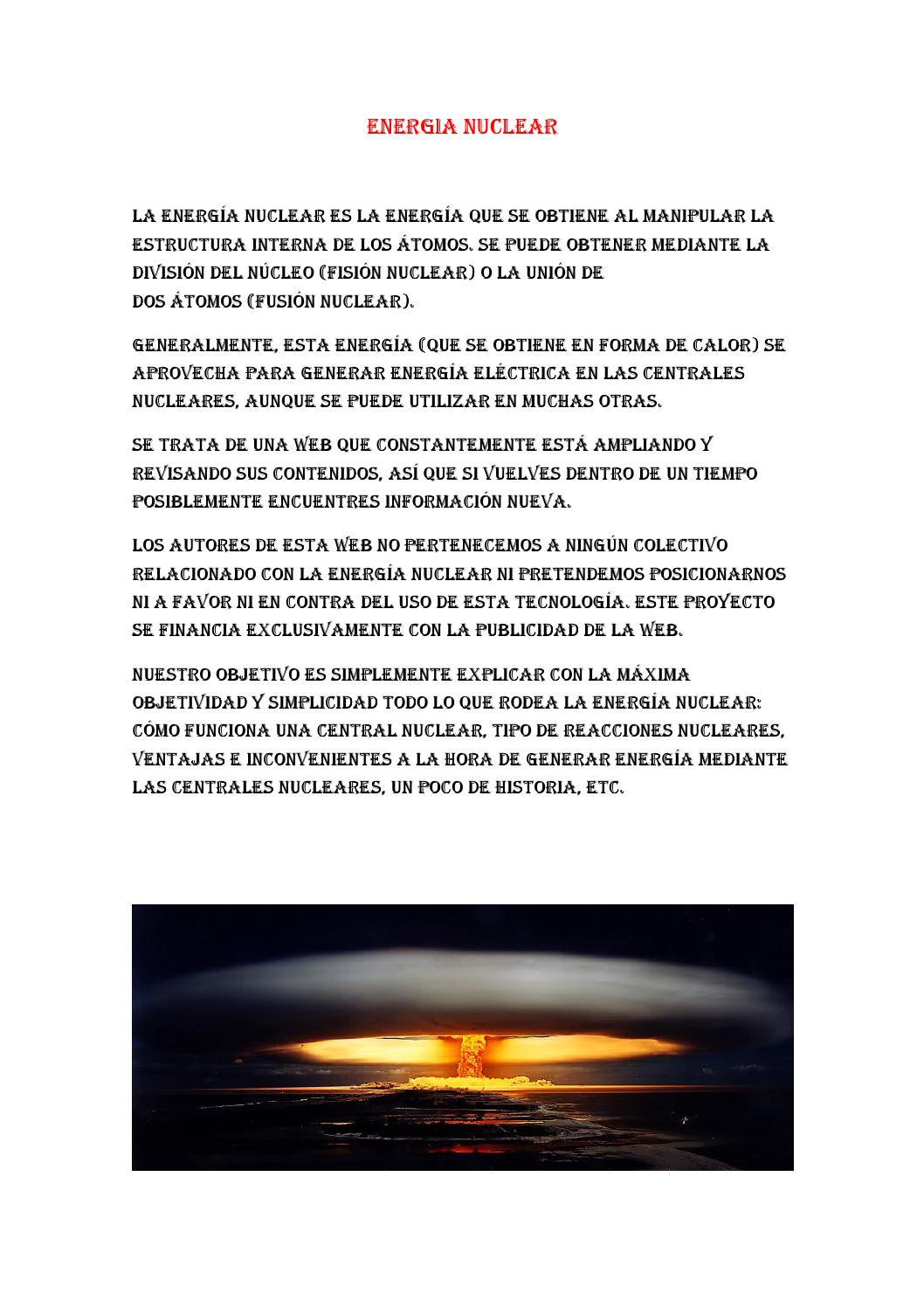 Energia Nuclear By Jesus Manuel Issuu