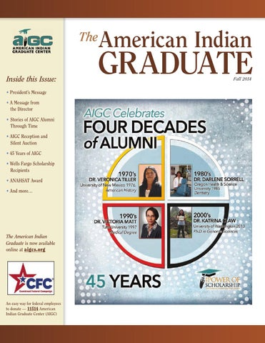 The American Indian Graduate Magazine Fall 2014 By American Indian