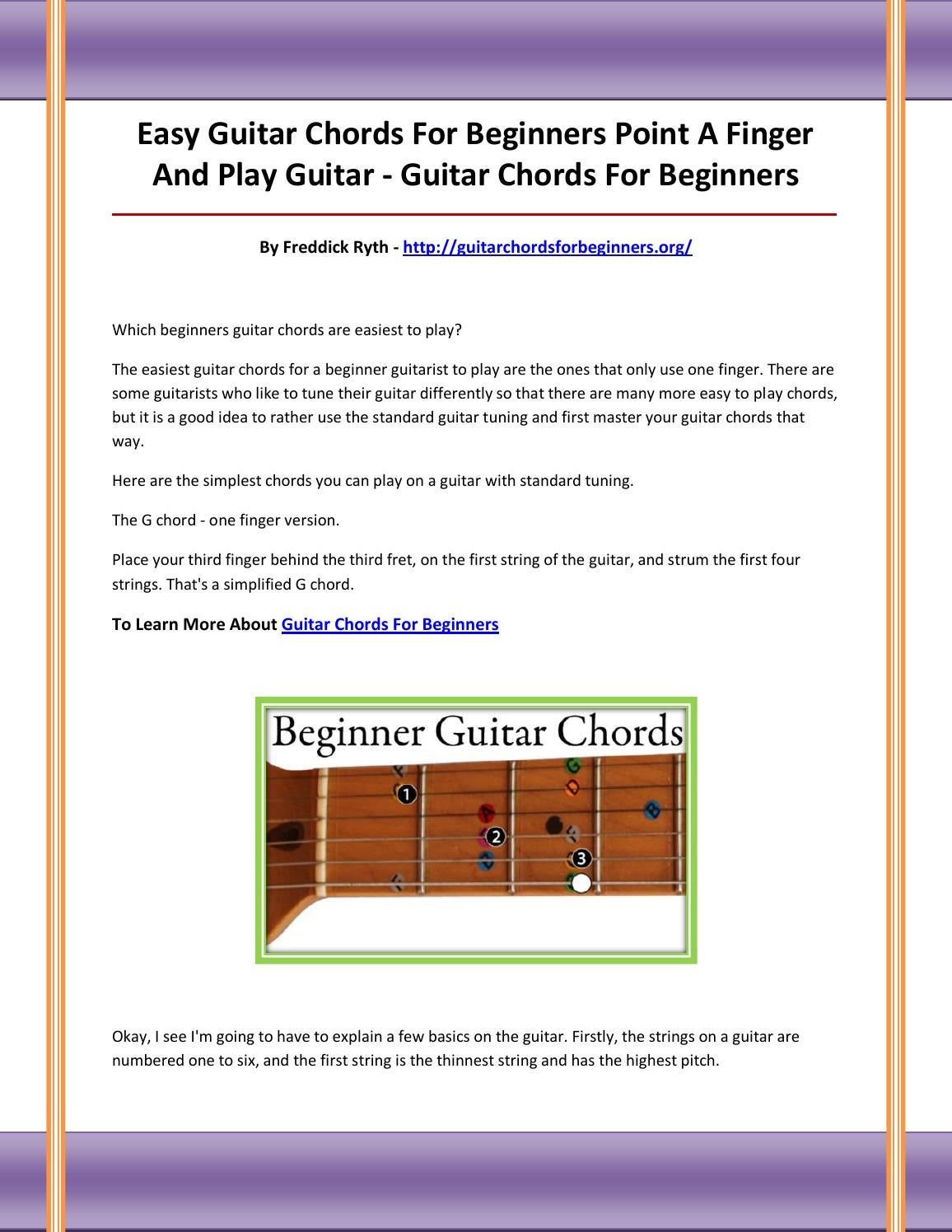 Guitar Chords For Beginners By Asddfgfgfa Issuu