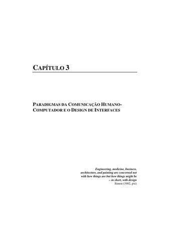 Capítulo 3 - Livro Design e Avaliação de Interfaces de Usuário by ... 5424654995