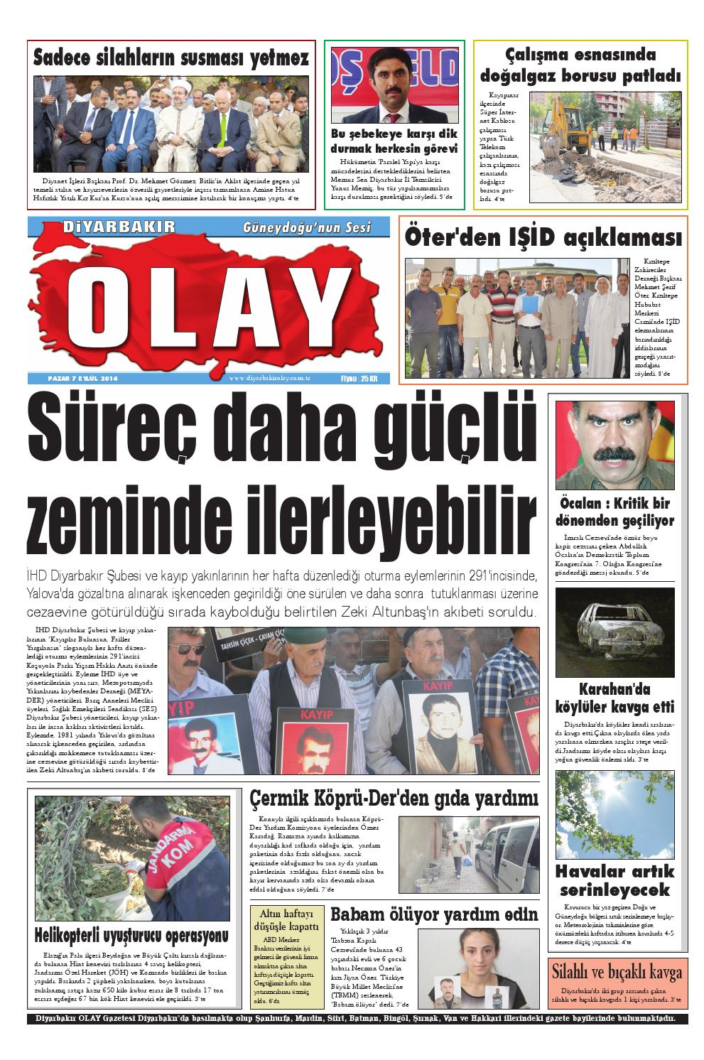 07 09 2014 Gazete Sayfalari By Diyarbakir Olaygazetesi Issuu