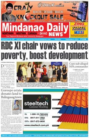 Mindanao Daily Davao (September 8, 2014) by Mindanao Daily News - issuu