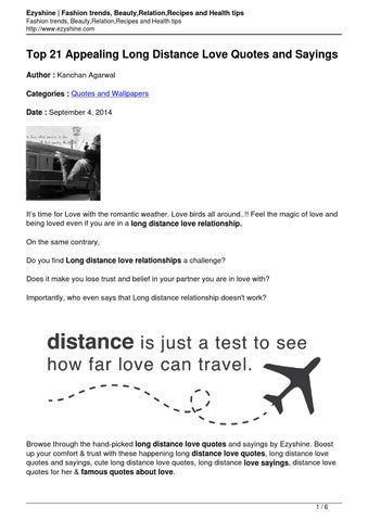 famous quotes about long distance relationships