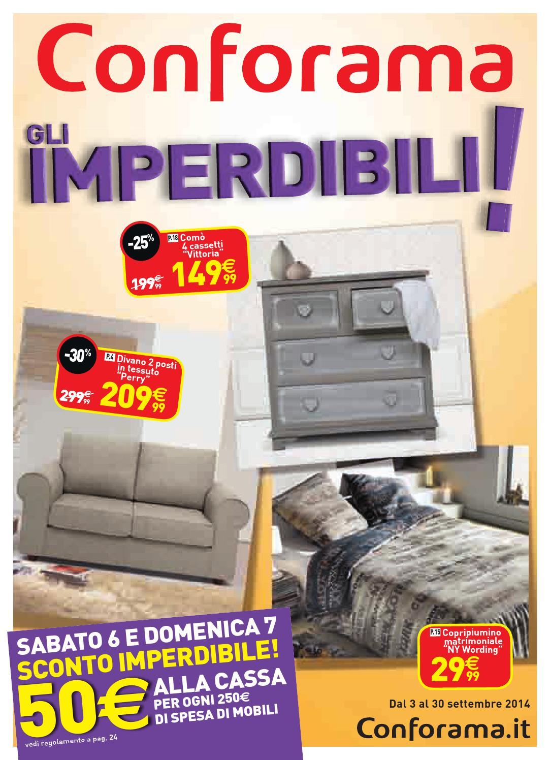 Conforama volantino 3 30settembre2014 by for Conforama specchi
