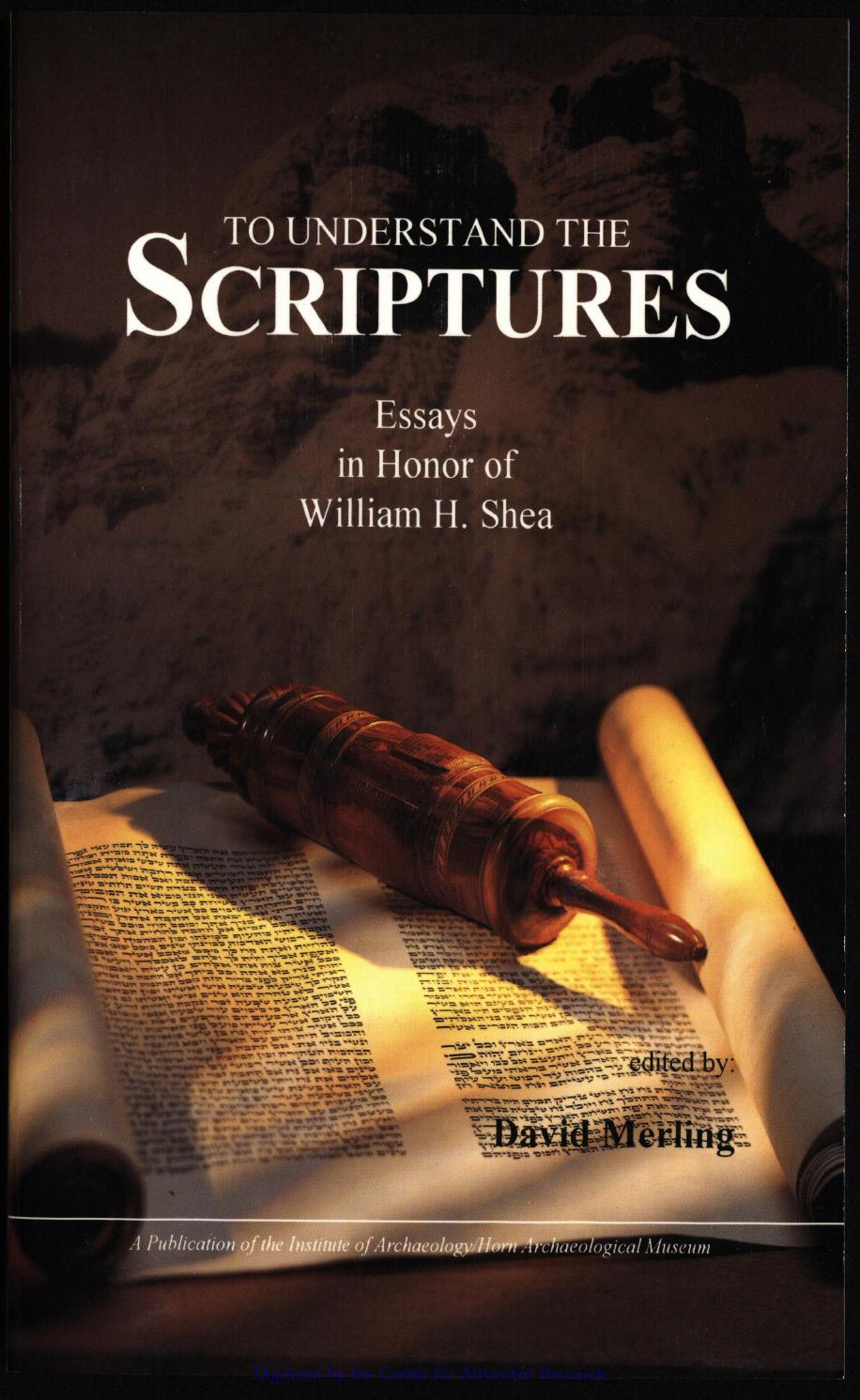 To Understand the Scriptures by Oscar