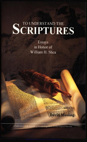 To Understand the Scriptures by Oscar Mendoza Orbegoso - issuu