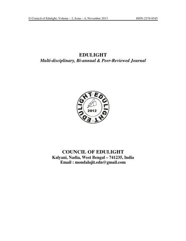 Edulight Journal Vol 2 No 4 November 2013 By Ajit Mondal Issuu