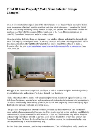 Make Some Interior Design Changes!