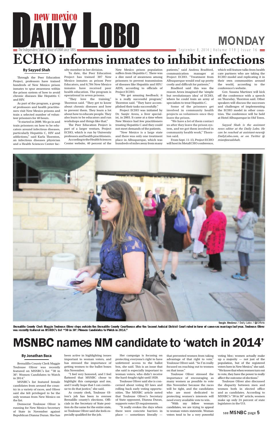 NM Daily Lobo 09 08 2014 by UNM Student Publications - issuu
