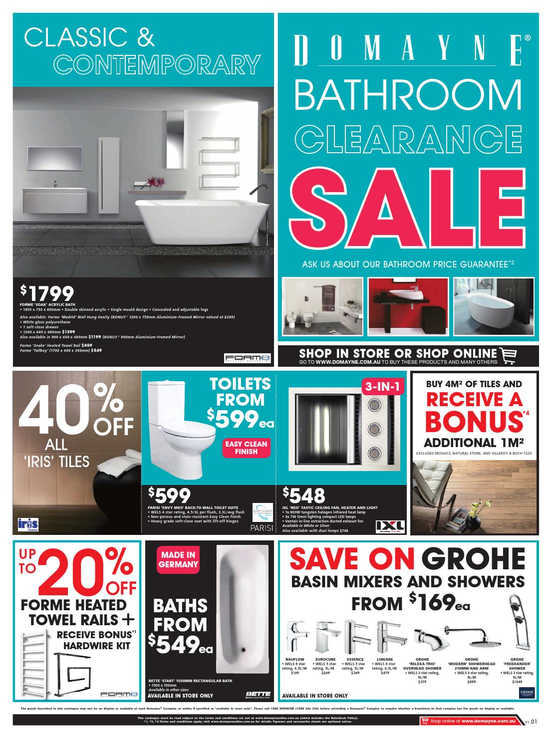 Domayne Bathroom Clearance Sale By Domayne Issuu