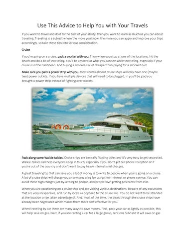 Use This Advice To Help You With Your Travels By Megan Simmons Issuu - Do cruise ships have cell service