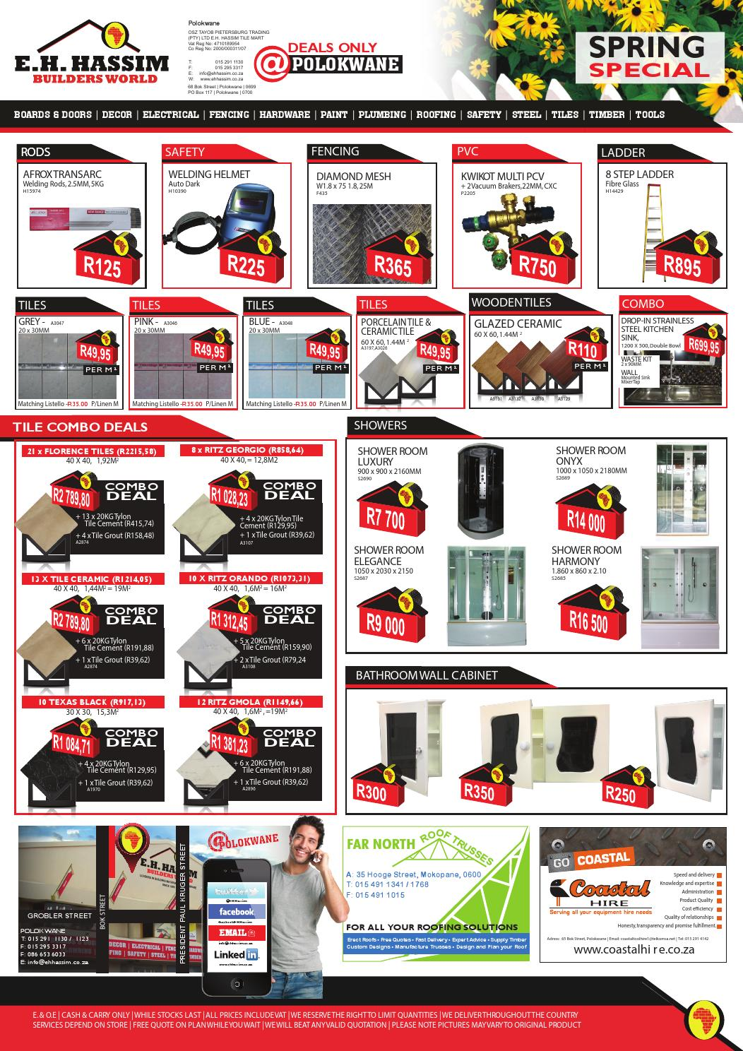 E H  Hassim Builder World Polokwane Special by E H  Hassim Hardware