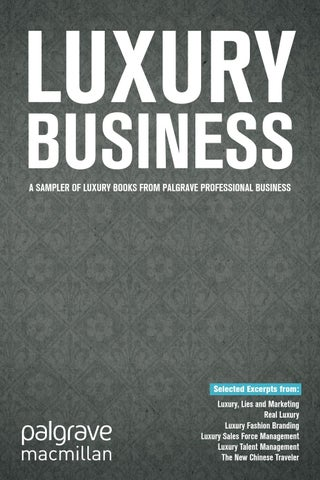 a718ea6c005 Luxury Business - Selected Excerpts by Palgrave Macmillan ...