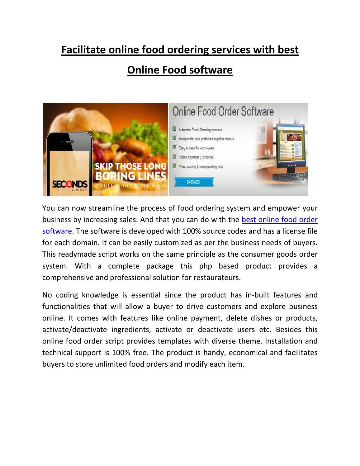Online Food Order Software by Popularclones - issuu
