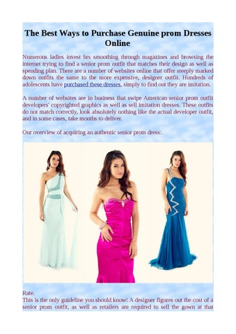 5f0ecc35d5 The Best Ways to Purchase Genuine prom Dresses Online Numerous ladies  invest hrs smoothing through magazines and browsing the internet trying to  find a ...
