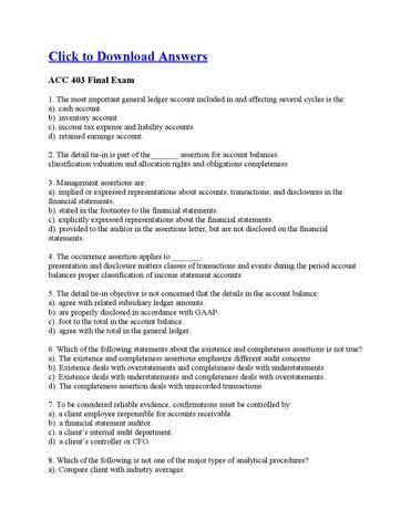 acc 403 final exam Acc 403 week 2 assignment and discussion posted by papers point at 02:16 email this blogthis  proj 586 week 8 final exam proj 586 week 7.