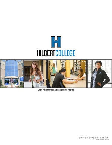 2014 hilbert college engagement report by hilbert college issuu page 1 malvernweather Images
