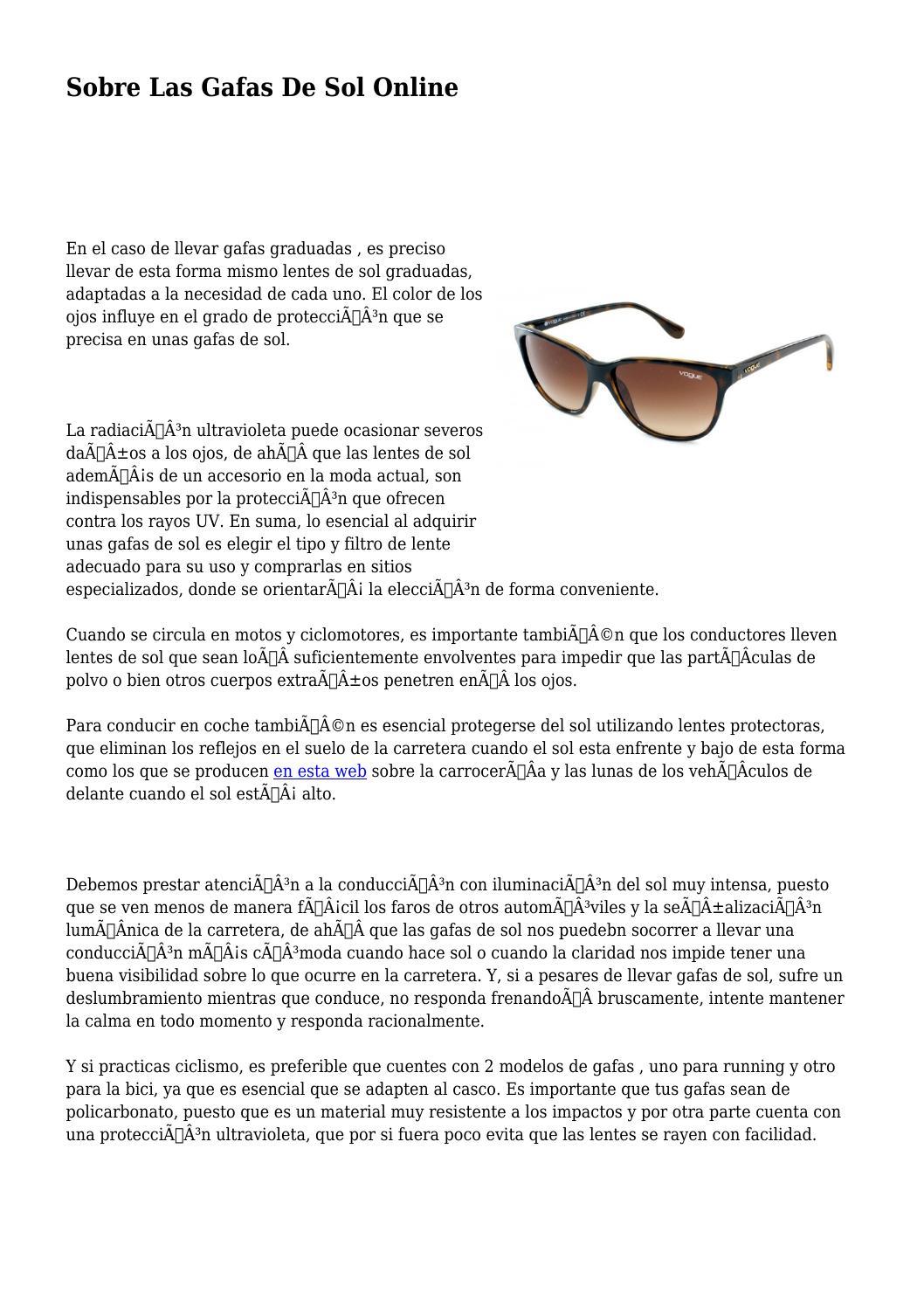 Gafas De Las By Sol Online Sobre Illgalsocial03 Issuu W29HEDIY