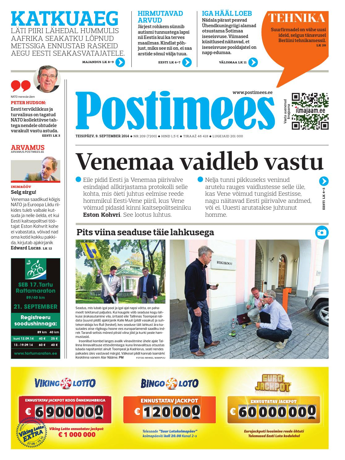 29a9ac84f8e Postimees 09 09 2014 by Postimees - issuu