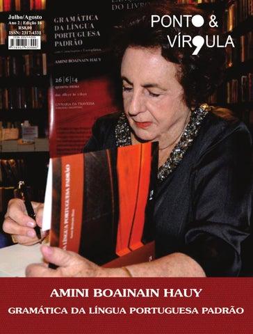 """Cover of """"Revista Ponto & Vírgula - Ano 2 - Edição 16 - Julho/Agosto 2014"""""""
