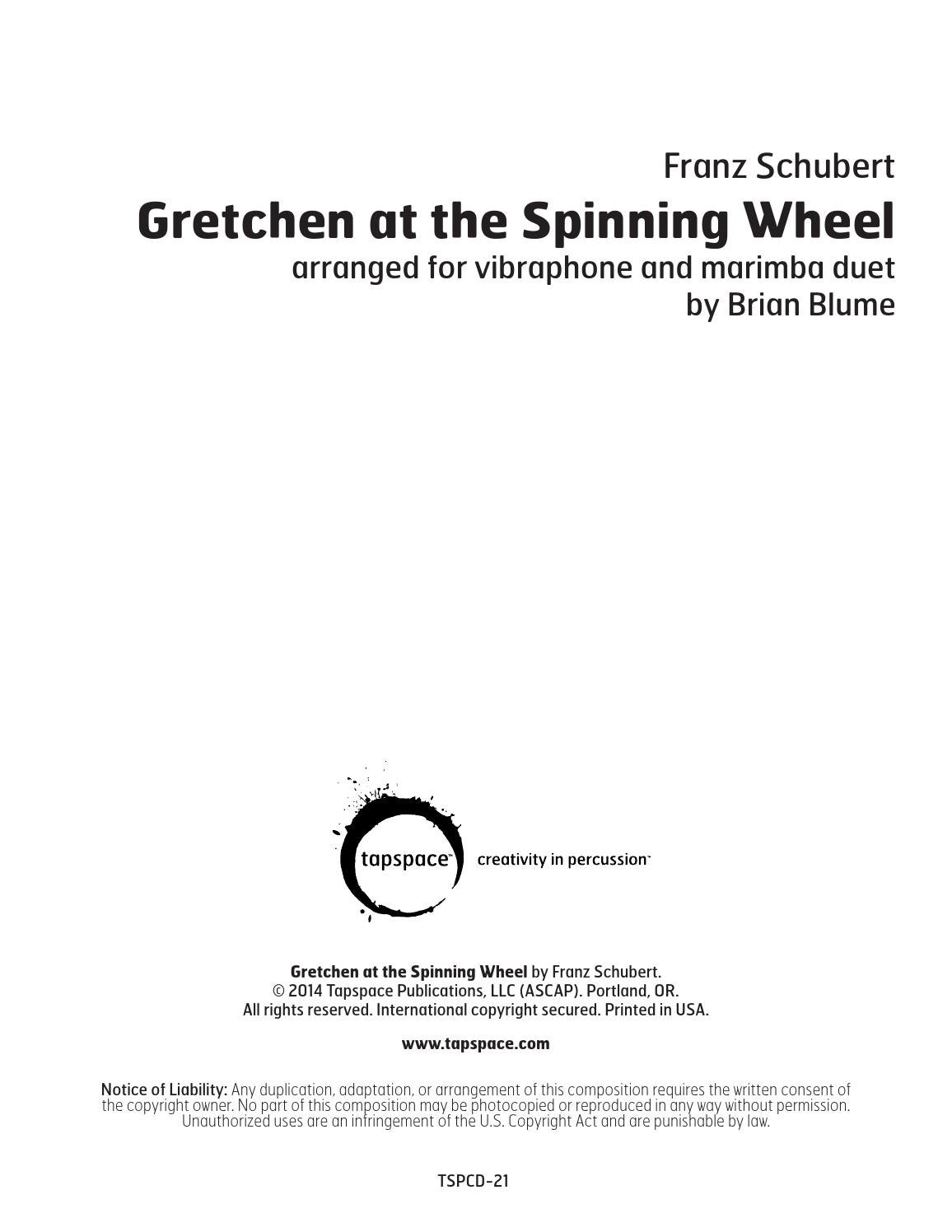 Gretchen at the Spinning Wheel-SAMPLE by Tapspace - issuu