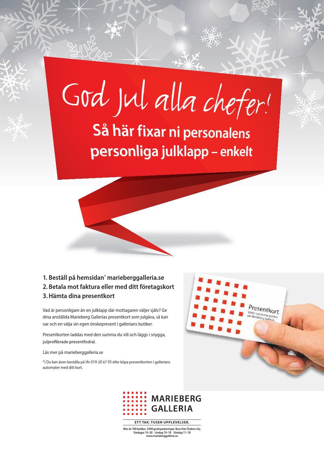 marieberg galleria öppettider jul