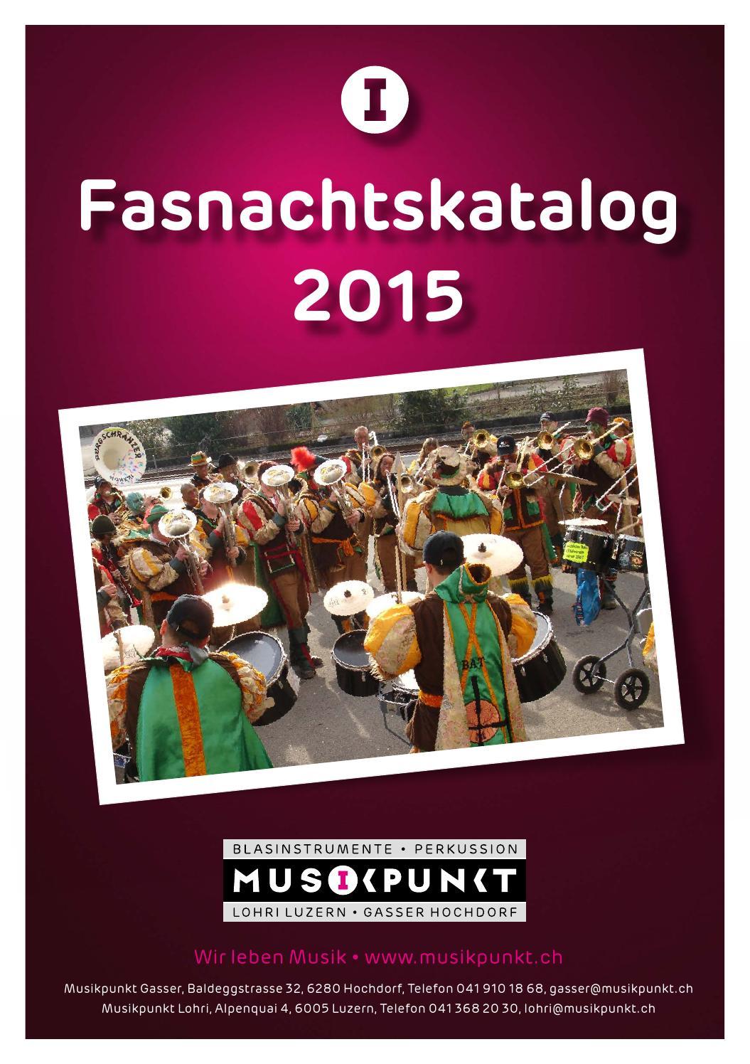 Musikpunkt Fasnachtskatalog 2015 by Musikpunkt AG - issuu