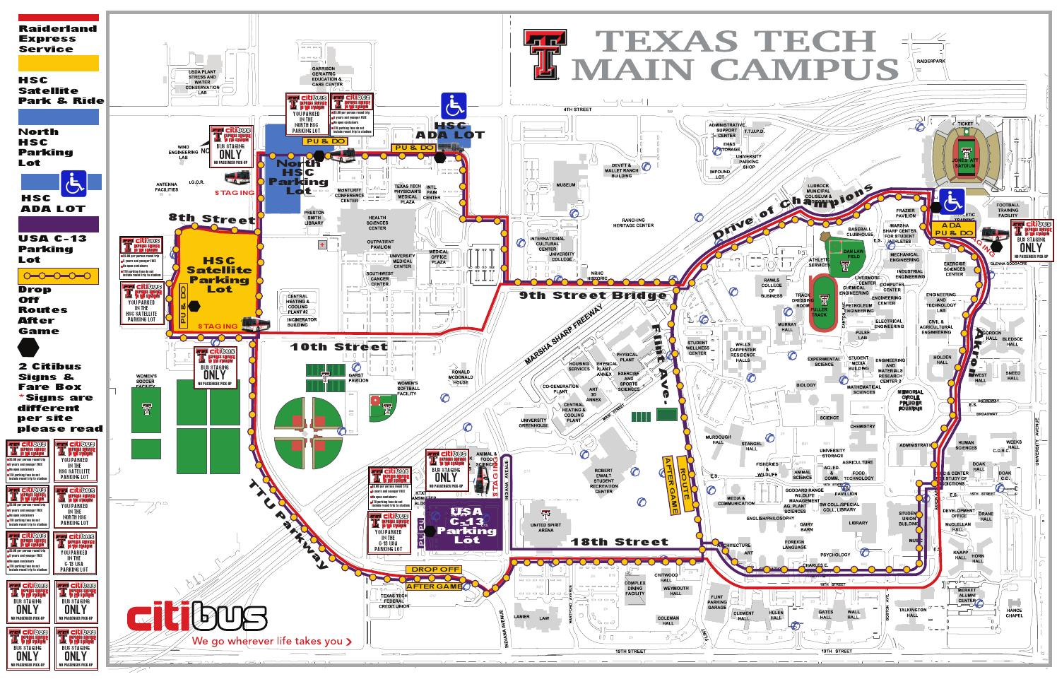 2014 Citibus Route: Red Raider Football Gameday by Texas ...