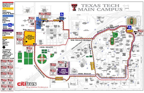 Map Of Texas Tech.2014 Citibus Route Red Raider Football Gameday By Texas Tech