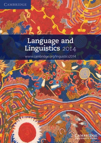 Language and linguistics 2014