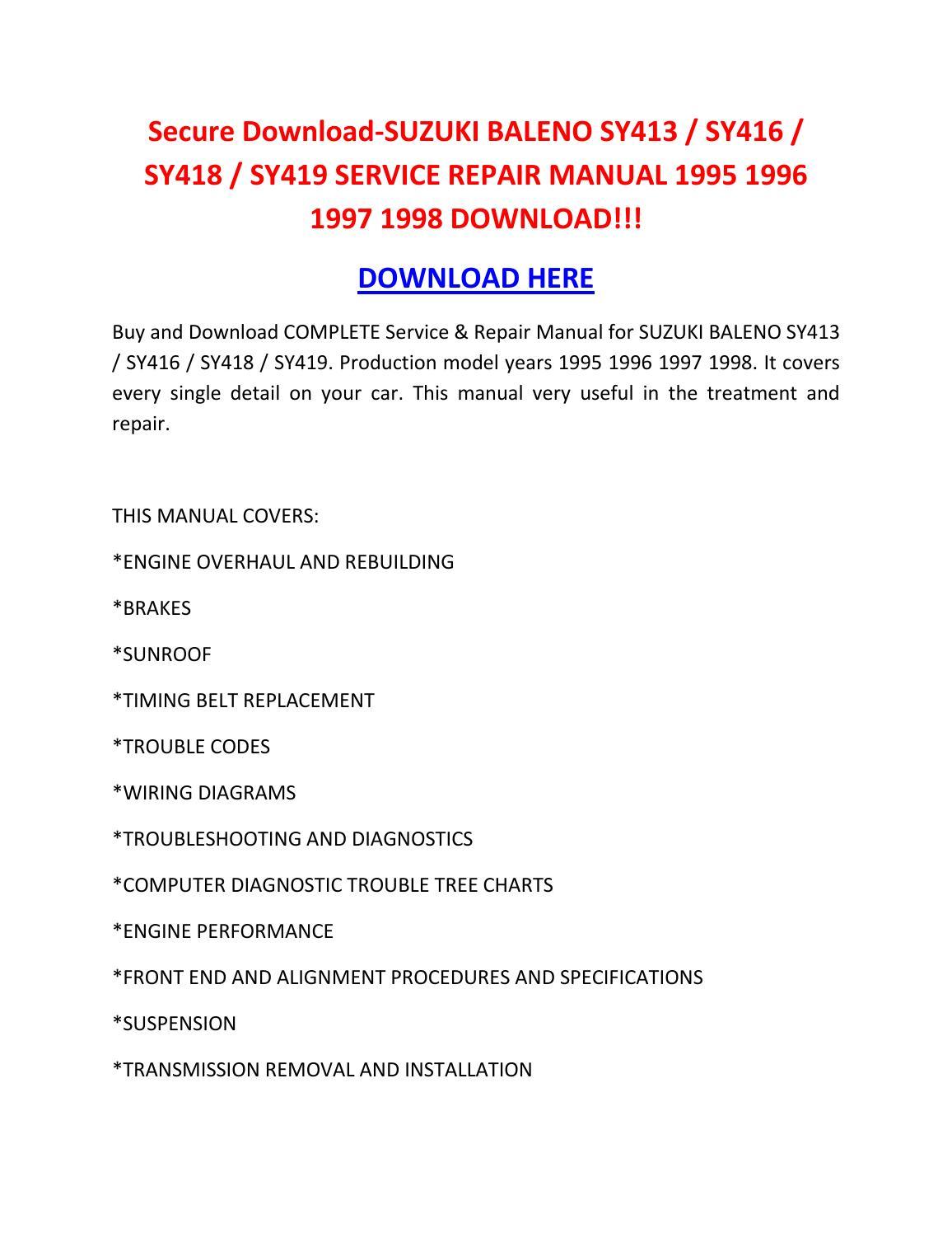 Secure Download Suzuki Baleno Sy413 Sy416 Sy418 Sy419