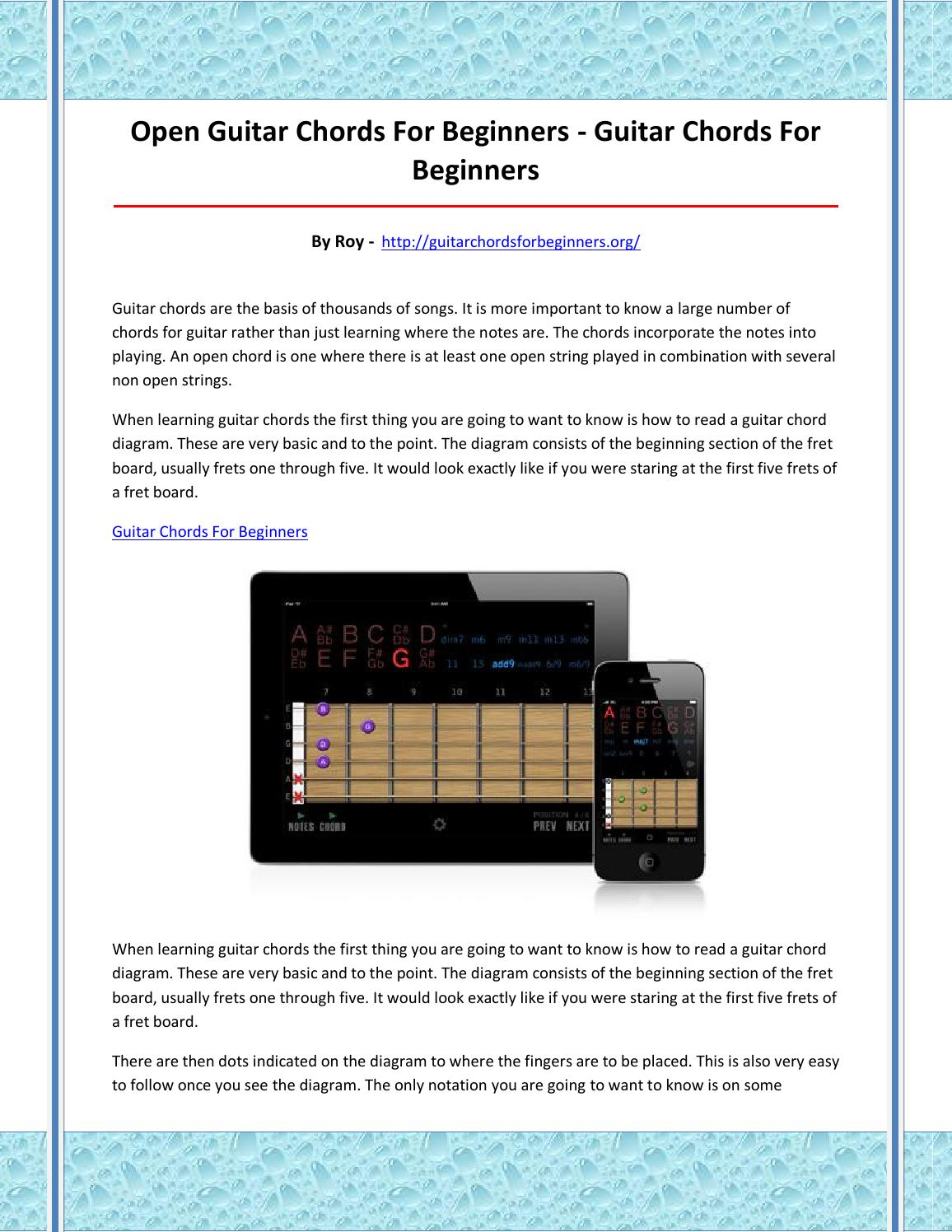 Guitar Chords For Beginners By Yaka Issuu