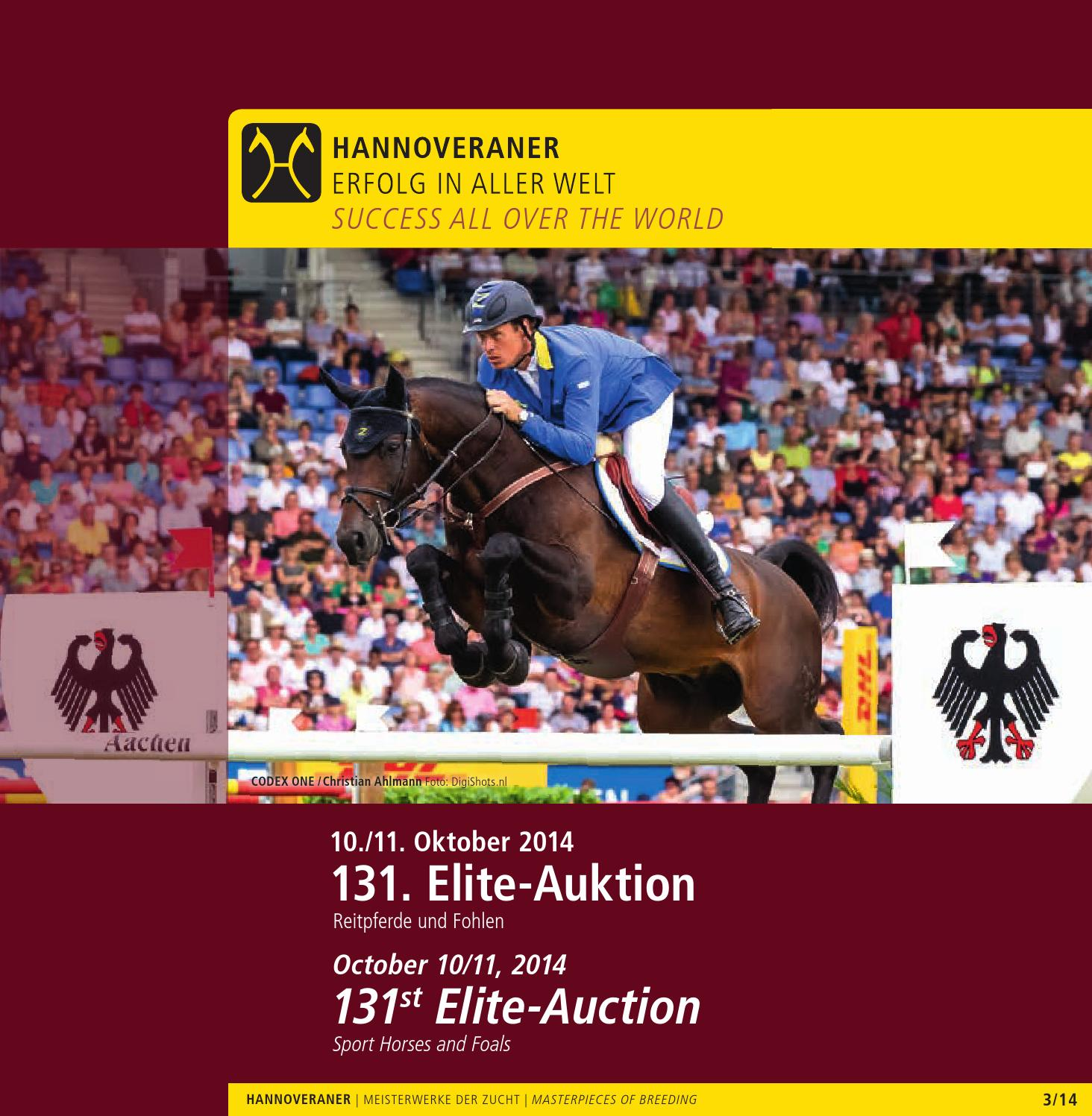 131. Elite-Auktion Reitpferde und Fohlen - 131st Elite-Auction of ...