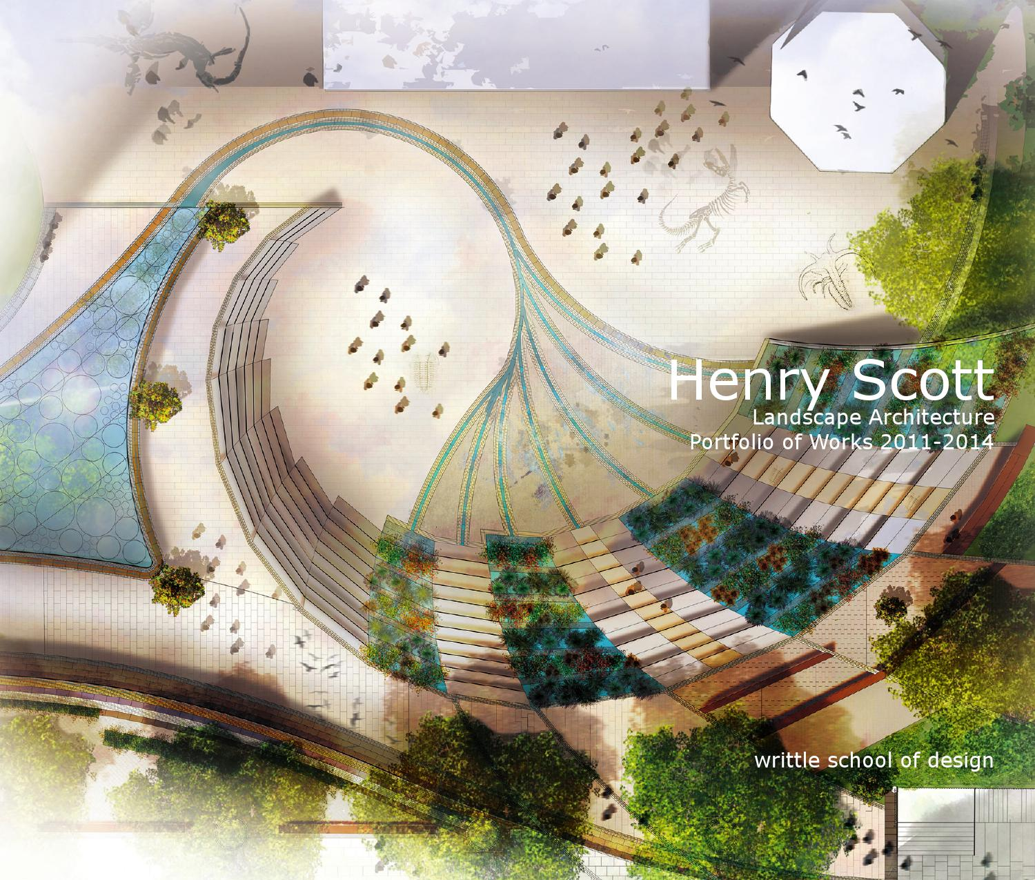 Landscape architecture portfolio of works by henry scott for Landscape design books