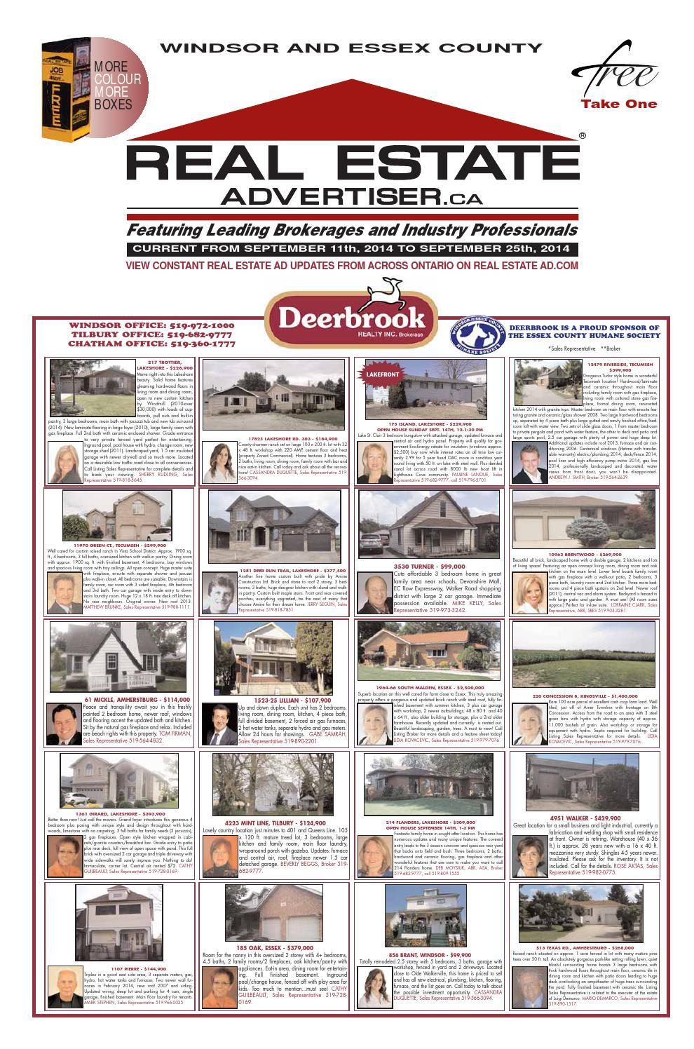 Real Estate Advertiser Windsor And Essex September 11