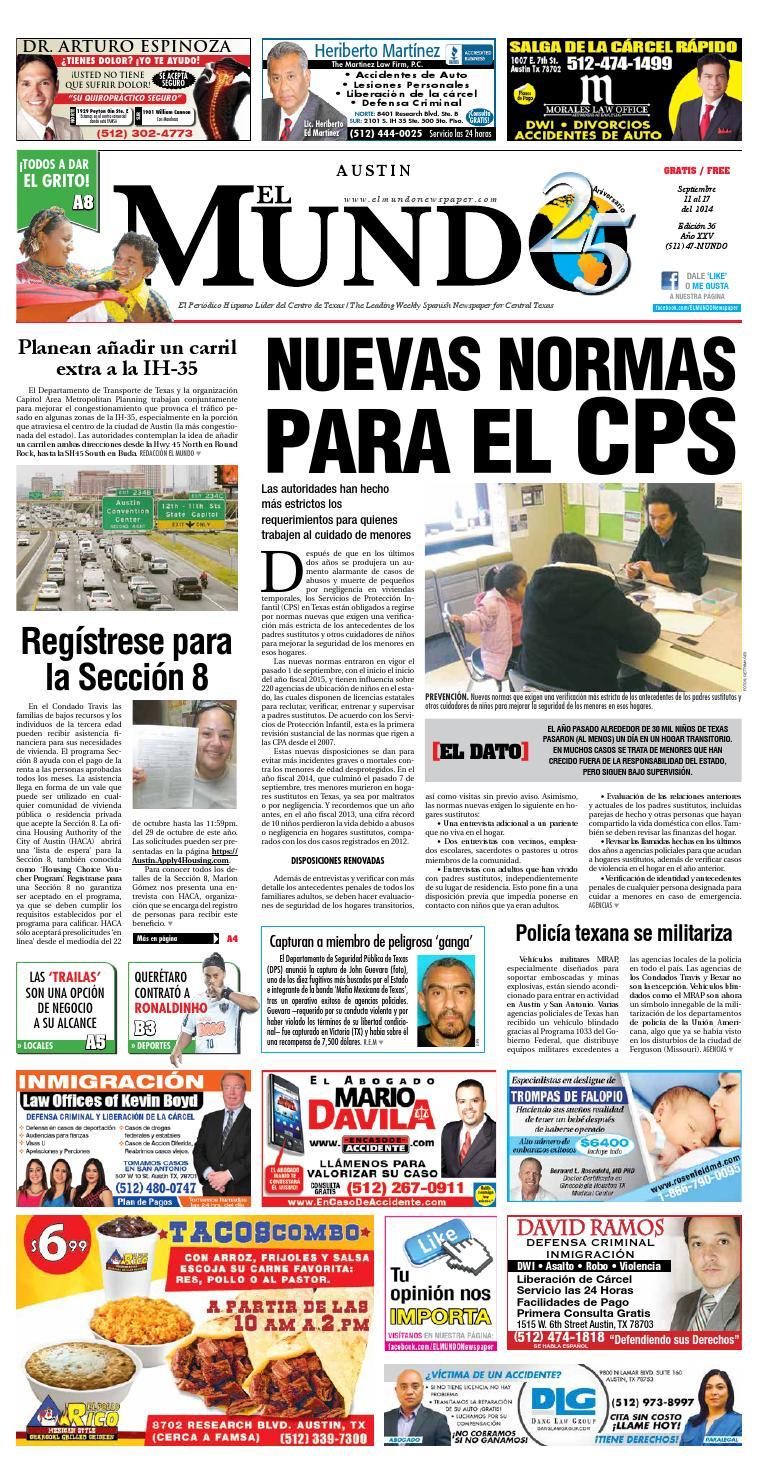 El Mundo Newspaper Austin 36 by El Mundo Newspaper - issuu