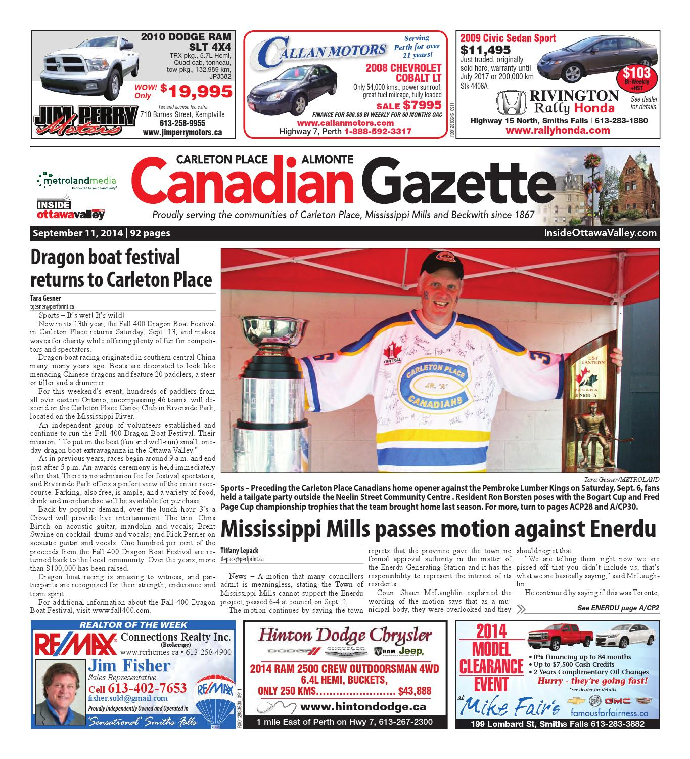 Almontecarletonplace091114 by Metroland East - Almonte Carleton Place  Canadian Gazette - issuu e44450a1aae7