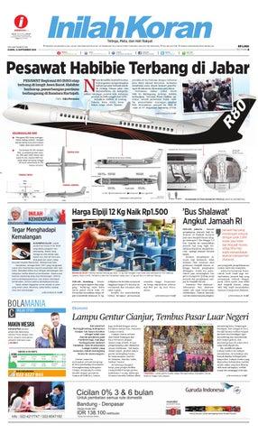 Pesawat Habibie Terbang Di Jabar By Inilah Koran