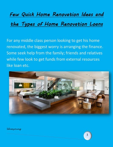 Few Quick Home Renovation Ideas And The Types Of Home Renovation Mesmerizing Remodel Home Loan Ideas Property