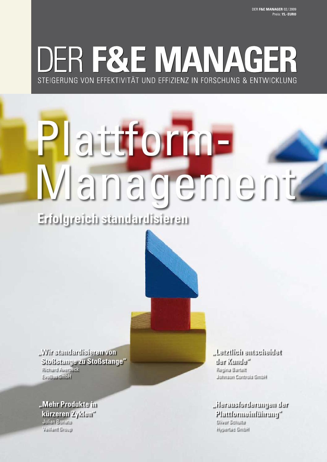 DER F&E MANAGER 02 2009 by AS&P Unternehmensberatung - issuu
